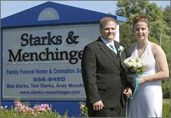 Couple Weds at Funeral Home