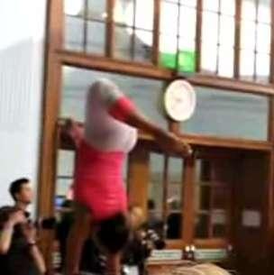 Olympic Gymnasts as Runway Models