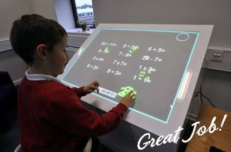 Futuristic Classroom Desks - SynergyNet Multi-Touch Table