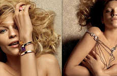 Deja Vu Ads - Claire Danes Strikes a Drew Barrymore for Gucci Jewelery
