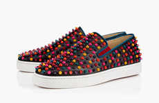 Spiked Technicolor Sneakers