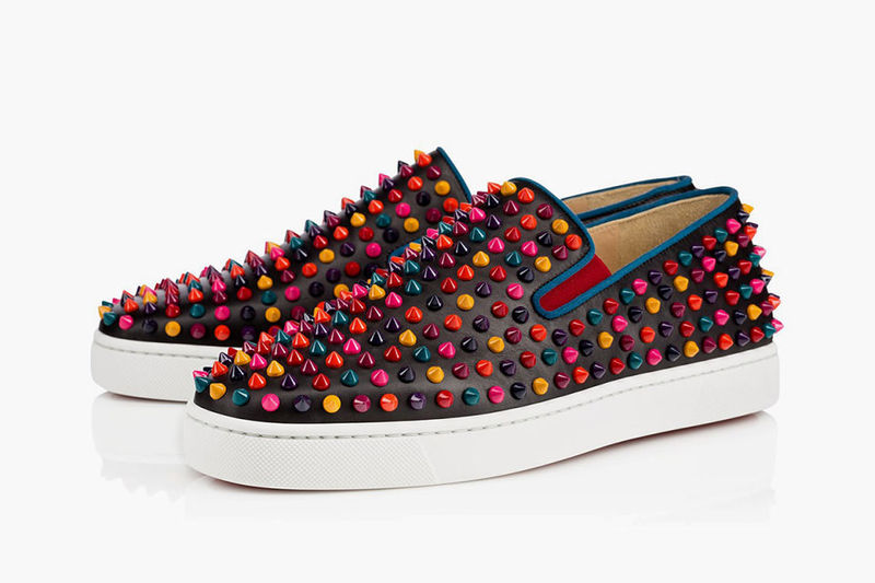 6b38948f28d5 Spiked Technicolor Sneakers