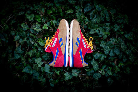 Vibrant Suede Sneakers