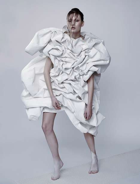 Scrunched Paper Bag Couture
