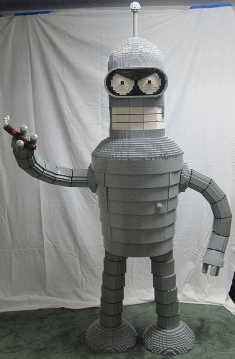 Cosmic Alcohol Cabinets - LEGO Bender is a Liquor Cabinet Made to Look Like a Futurama Character