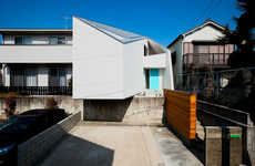 Angled Facade Abodes - The House in Nagoya by Atelier Tekuto has an Asymmetrical Design