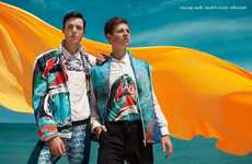 Vibrant Beachside Editorials - Male Model Scene's SURF GYRE Fashion Story is Color-Enriched