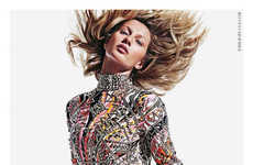 Hair-Flipping Fashion Ads - The Emilio Pucci Fall 2014 Campaign Stars Model Gisele Bundchen