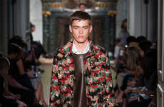 Urban Camouflage Runways - The Valentino Spring/Summer 2015 Collection is Vibrantly Patterned
