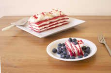 Patriotic Icebox Cakes - This Memorial Frozen Dessert Cake is a Great July 4th Recipe to Try