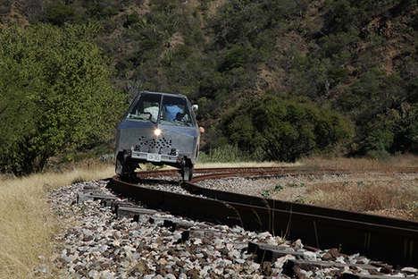 Railroad-Exploring Vehicles