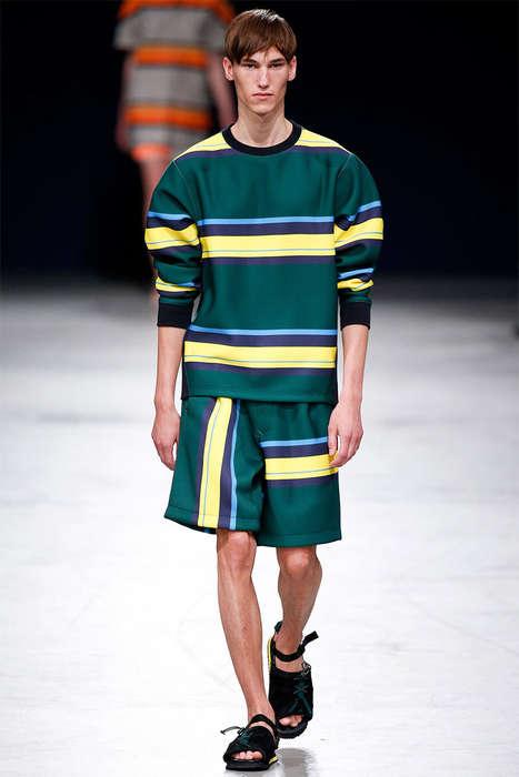 Striped Sophistication Sportswear