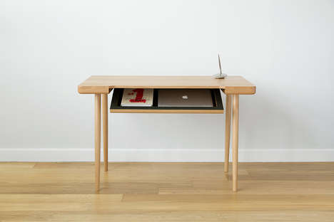 Productivity-Boosting Desks - This New Writing Laptop Desk Design is Slim, Sleek and Stylish