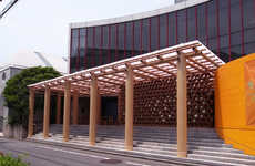Recycled Cardboard Pavilions - The World Cup Pavilion in Tokyo was Made by Shigeru Ban Architects
