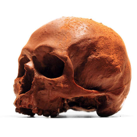 Creepy Cranium Chocolates - Blackchocolateco Makes Chocolate That Resembles an Anatomical Skull