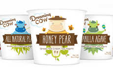 Illustrative Yogurt Packaging - Dreaming Cow's Natural Yogurt Containers Shows Exactly What's Inside