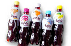 Wacky Iconographic Bottles - The Bubbly Kofola Bottles Feature a Series of Bizarre Icons on Them