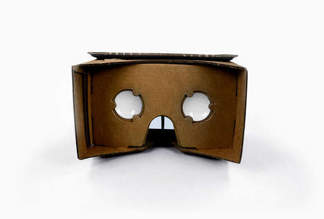 Simplistic Virtual Reality Headsets - The Google Cardboard is for Everyone with Smartphones