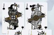 Historic Rivalry Card Decks - The Bicycle Hundred Years' War Cards Play Off of English & French Wars
