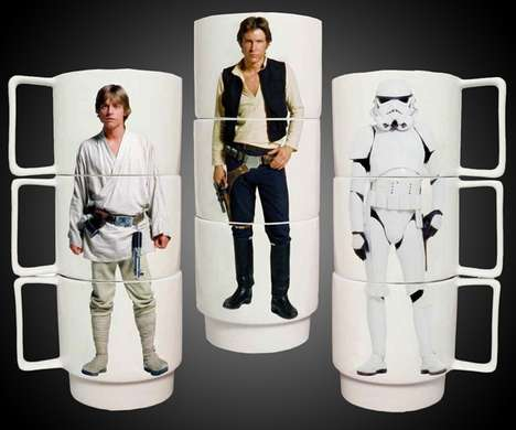 Stackable Sci-Fi Mugs - Star Wars Stacking Mugs Will Make Your Coffee More Full of the Force