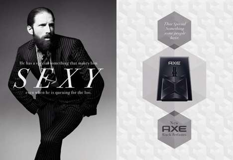 Satirical Body Spray Ads - These Axe Body Spray Ads Are Presented Like High-End Men's Perfume