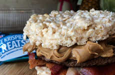 Puffed Cereal Burgers - This Rice Krispies Treat Burger Combines Sweet and Savory Flavors