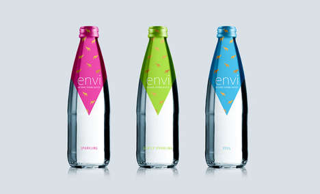 Party Spring Water Packaging - ENVI's Natural Spring Water Comes Packaged in Bright Bottles