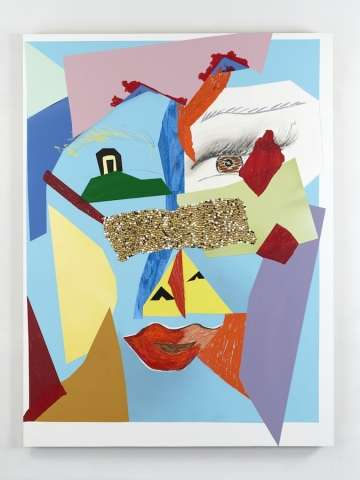 Collaged Cubism Artworks