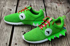 Amphibian Puppet Sneakers - These Kermit the Frog Shoes Were Inspired by the Kermit the Snitch Memes