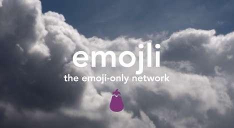 Emoji-Only Social Networks