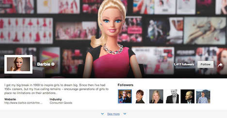 Empowering Networking Pages - The New Barbie LinkedIn Profile Encourages Female Entrepreneurs