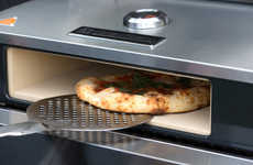 Barbecue Pizza Ovens - The BakerStone Pizza Oven Box Preps Pizza on the BBQ with Ease