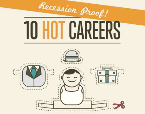 Recession-Proof Career Charts - This 10 Hottest Careers Infographic is Helpful and Detailed