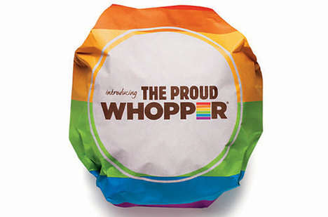 Prideful Burger Wrappers - The Proud Whopper by Burger King Celebrates Gay Pride