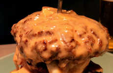 Towering Cheesy Burgers - Ushigoro Bambina's Big Burger is a Mess of Meat and Cheese