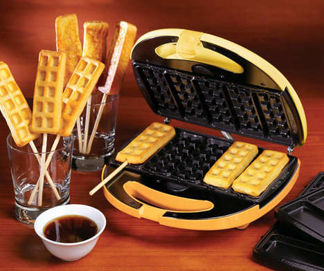 Waffle Stick Makers - The FTW200 2-in-1 Breakfast Treats Maker Creates Casual Desserts