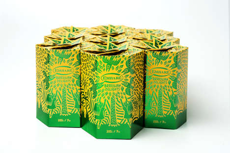 Blossoming Candy Boxes - Embare's Brazilian Delights Candy Box Shows Off the Country's Flavors