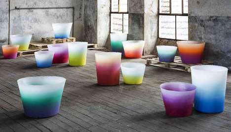 Vibrant Gradient Planters - The Alba Collection by Massimiliano Adami is Perfect for Summer