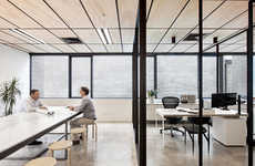 Monochromatically Divided Offices - Clare Cousins Architects Have Designed a Shared Work Space