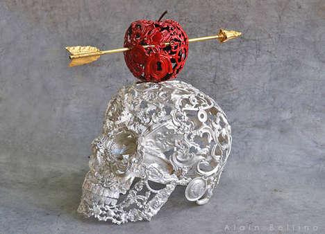 Skeletal Steampunk Sculptures