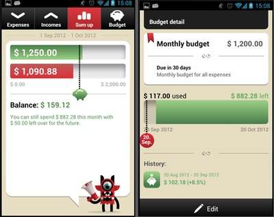 Multifunctional Finance Tools - Android's Toshl Finance Budget and Expense App Makes Saving Easy