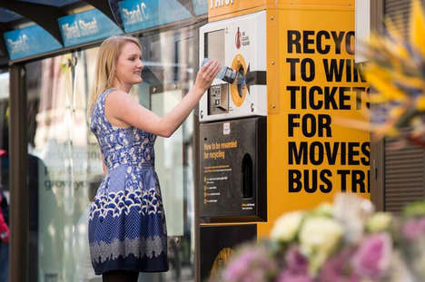 Incentivized Recycling Machines - The Envirobank Recycling Machine Offers Prizes for Cleaning Litter