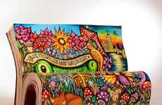 Literary Book Benches