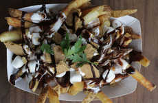 Chocolate Marshmallow Poutines - These S'mores Fries Creatively Combine Gravy and Graham Crackers