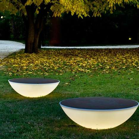 Celestial Lighting Solutions - The Solar Outdoor Floor Lamp will Add a Touch of Striking Brightness