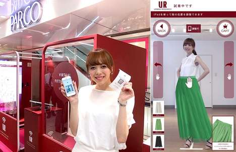 Responsive Fitting Room Booths
