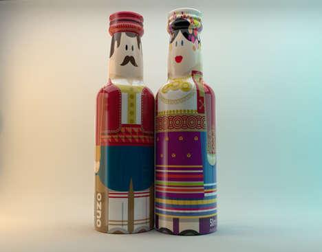Cultural Doll-Shaped Bottles