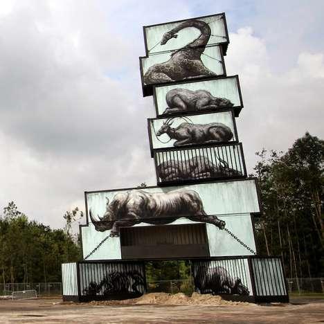 Caged Animal Art