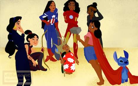 Superhero Disney Princesses