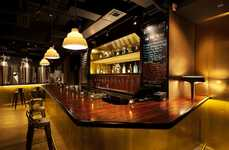 Authenticity-Driven Lounge Bars - Tipping Point Brewery and Bar by Arboit is Warm and Consistent